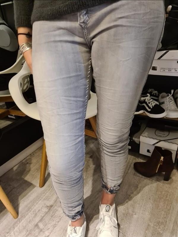 Jeans gris réversible