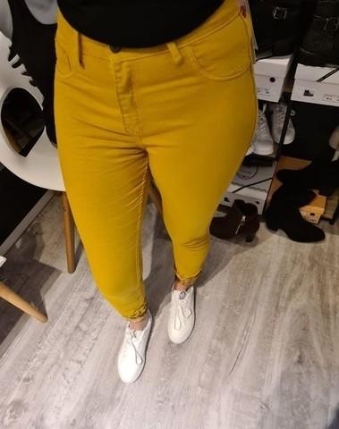 Jeans moutarde réversible petite et grande taille
