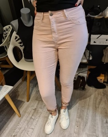 Jeans rose réversible petite et grande taille
