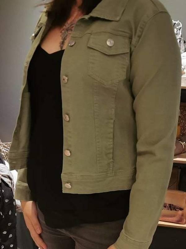 Veste jean colorée